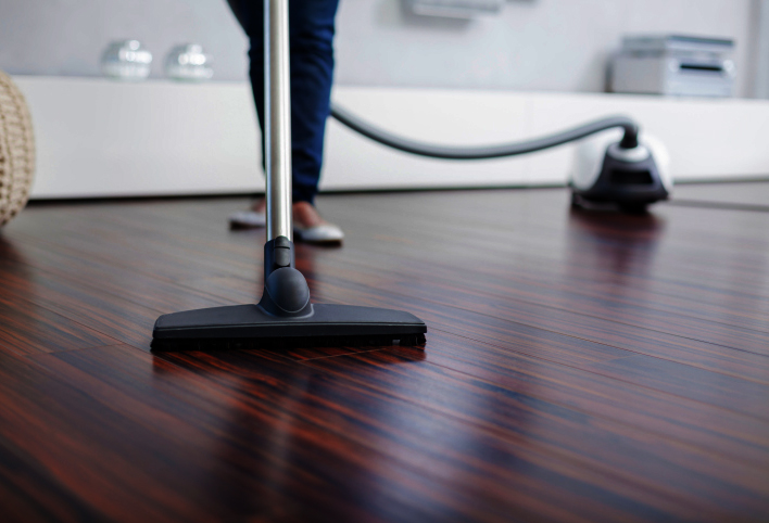 Sweeping, vacuuming, and mopping